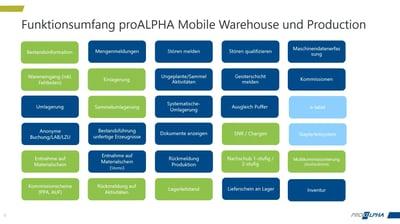 Mobil arbeiten im Lager - proALPHA Mobile Warehouse