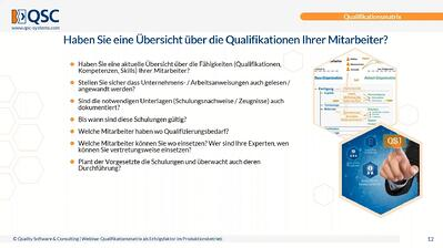 Qualifikationsmatrix als Erfolgsfaktor im Produktionsbetrieb