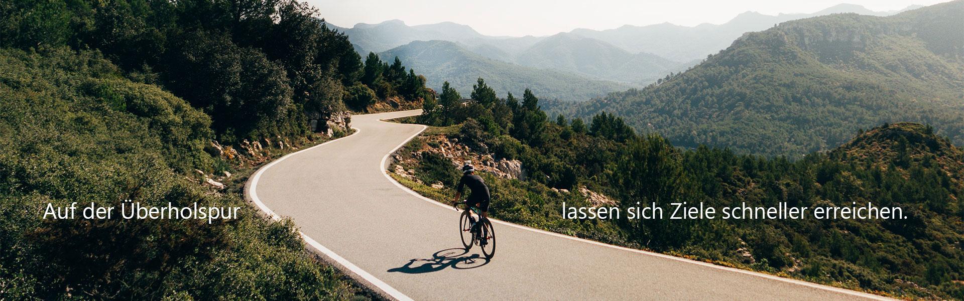 Auf der Überholspur lassen sich Ziele schneller erreichen.